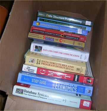 Geek Box of Comp. Sci. textbooks